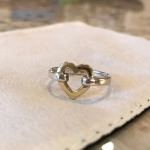 54428604c Tiffany & Co. Jewelry | Tiffany Co Two Toned Heart Ring Size 7 ...
